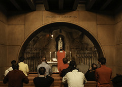 Vocations Mass II (Lawrence OP) Tags: red basilica chapel mass martyrs lourdes eucharist immaculateconception nationalshrine vocations