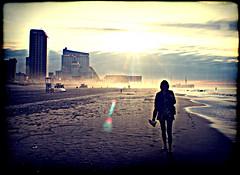 Early Morn, Atlantic City (Groovyal) Tags: city vacation sun beach swim fun photography early sand waves arcade tan atlantic shore atlanticcity steelpier boardwalk rides morn amusments earlymorn groovyal earlymornatlanticcity