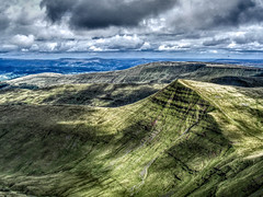 Up a good depth (Jon_Wales) Tags: summer mountains sunshine wales clouds nationalpark hiking cymru breconbeacons hills welsh hillwalking