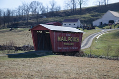 Mail Pouch Tobacco Covered Bridge (Bitmapped) Tags: ohio usa cumberland guernseycounty