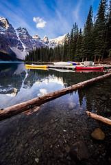 Moraine Lake (macironman) Tags: canada canoes morainelake apertureacademy