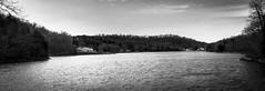 Lake Panorama (adamopal) Tags: statepark blackandwhite panorama lake monochrome canon mo missouri canon5d lakepanorama hahatonkastatepark canon5dmkiii canon5dmarkiii hahatonkastateparkmissouri