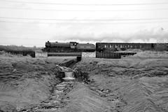 Portskewett 42828bw (kgvuk) Tags: trains locomotive railways mayflower b1 steamlocomotive 460 1306 cathedralsexpress 61306 portskewett southwalesrailway