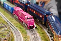 Three-rail O-gauge ES44 (mnosal) Tags: train ma amherst modelrailroad modeltrains modelrailway westspringfield modelrr trainshow ogauge es44 amherstrailwaysociety