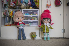 "BaD February - ""Mittens"" (Dolly Adventures in the Galland Household) Tags: winter childhood dolls clothes blythe custom collectibles mittens dollhouse danbo miema qmagicdoll"