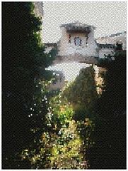 Siempre bella (5)/Always beautiful (5) (margabel2010) Tags: contraluz pared arquitectura flora rboles ventanas rbol entrada casas tejado arco virgen vidriera casita paredes estructura ramas airelibre contraluces solysombra casasrurales trepadoras tejadillo florasilvestre