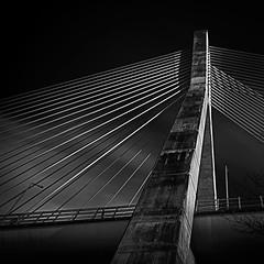 Mary McAleese Bridge (germul) Tags: bridge blackandwhite river motorway m1 drogheda boyne marymcaleese