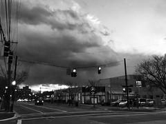 Clouds (IamJomo) Tags: blackandwhite bw monochrome maryland bethesda iphone jomo montgomerycounty takenwithaniphone iphoneography iphone6 snapseed smallworldphotos jomophoto