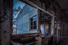 Window pain (RissaJT_23) Tags: abandoned broken rural canon sheep decay farm rustic shed frame derelict windowpane shearing rundown manfrotto shearingshed canon1740mm canon6d canoneos6d