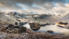 Haweswater (Dave Fieldhouse Photography) Tags: haweswater lakedistrict resevoir cumbria nationalpark highstreet harterfell mardale cottage ruins daybreak dawn sunrise landscape outdoor clouds light trees snow frost winter mountains fells reflections cold theoldcorpseroad canon5dmarkiii 2470mmf28l2 lancashirelife lpoty lpoty2016 landscapephotographeroftheyear commended