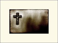 Good Friday (Bob R.L. Evans) Tags: mood cross symbol prayer jesus crucifix minimalism sepiatone ipad ipadphotography