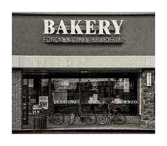 Bakery (sorrellbruce) Tags: bw texture blackwhite store spring quiet afternoon fuji sunday shapes overcast bakery form shoppingcenter relaxed springfieldva softlight panaderia toning lr6 photoninja framefun silverefexpro fujinon1855mm fujixt1 petebridgwoodsharpeningpresets