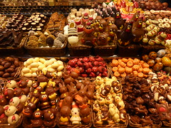 Happy Easter! (Whiskers and Whispers (The Future is Feline)) Tags: barcelona yummy spain market chocolate catalonia sweets boqueria