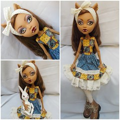 this girl could look cute in a garbage bag  LOL (redlizzy2) Tags: 17inch handmadeclothes lolitastyle clawdeen monsterhigh