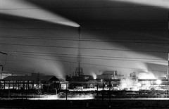 8 (rtw1r) Tags: longexposure nightphotography winter blackandwhite bw plant film ecology 35mm dark industrial factory darkness russia smoke urbanexploration pollution ilford analogphotography chemicalplant urbex airpollution filmphotography darkplace  industrialphotography ilfordpan400 pan400   rtwlr