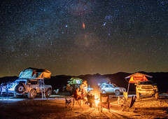 Stars, Tents and Fire (exploredesert) Tags: camping roof friends camp hot get ford expedition stars relax fun fire death tents nightscape desert top away tent astrophotography springs valley toyota bronco 4runner smores tacoma saline overland tepui 2016 rtt ruggedized overlanding kukenam