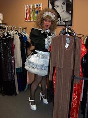 Shopping 3 (jensatin4242) Tags: sissy transvestite taffeta maid crossdresser petticoat sissymaid jensatin
