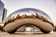 Cloud gate (sharad.bapat) Tags: chicago skyline canon bean millenniumpark cloudgate thebean chicagoskyline 1855kitlens attplaza canon600d