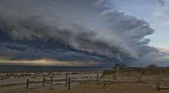 Massive Cloud over Cape Cod Bay (brucetopher) Tags: sky cloud storm weather squall scary skies ominous armageddon doomsday frightening shelfcloud