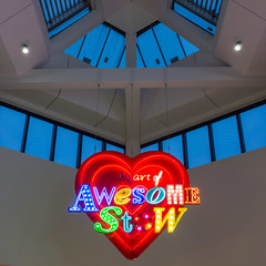 78/366 - Awesome-stow (Spannarama) Tags: uk windows roof london sign mall square march neon vaulted walthamstow 366