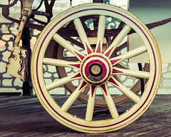 Wheel of fortune (Explored) (hehaden2) Tags: wheel sussex pier wooden brighton caravan fortuneteller brightonpier palacepier