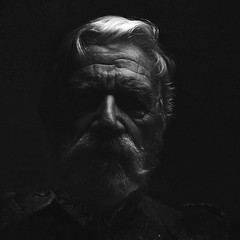 The General (asphot) Tags: old portrait people blackandwhite bw sculpture white man black film face look night silver hair beard army major uniform noir general serious military colonial surreal monochromatic moustache militar wise sir 1700s 1700 blackbottom