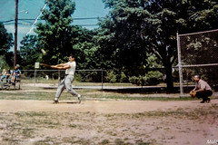 Recreational 70's (J.Mul) Tags: old family classic youth baseball grandfather young 70s 1970 damaged past oldie revised recreational