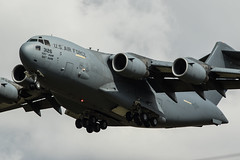 C17 arrival at RAF Mildenhall (Nick Collins Photography, Thanks for 1.8+m views) Tags: canon flying aircraft aviation military iii 300mm boeing globemaster usaf raf mcguire mildenhall c17a 7dmk2