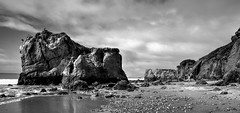 Monochrome Beach (corybeatty) Tags: ocean california sea bw usa cloud white black beach water weather clouds landscape state el matador