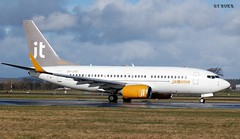 OY-JTY BOEING 737-700 (douglasbuick) Tags: denmark scotland airport nikon flickr time glasgow aircraft aviation jet boeing airways airlines airliner taxiing d40 b737700 egpf oyjty
