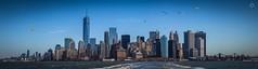 Manhattan (Augmented Reality Images (Getty Contributor)) Tags: city nyc newyorkcity panorama usa ferry america canon buildings river stitch manhattan bridges statenisland urbanjungle