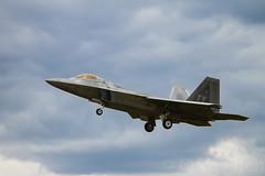 F-22 Landing (cjf3) Tags: uk suffolk raptor stealth f22 usaf topgun nato lakenheath tyndallafb fastjet