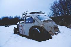 beetle (jokullgudm) Tags: winter white snow cold car vw volkswagen beetle