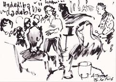 A-Trane Jazzclub  Concert-  Detlef Surrey (Detlef Surrey) Tags: concert jazz sketchbook jazzclub skizze livemusik urbansketches
