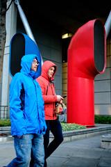 Hoods (shotbywiles) Tags: street city london photography xpro thecity streetphotography fujifilm redandblue raincoat 18mm wiles streetphotographer financedistrict xpro2 fujifilmx xf18mm wilesphotography