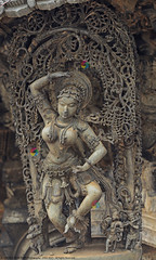 MADANIKAS OF BELUR :: MOHINI (GOPAN G. NAIR [ GOPS Photography ]) Tags: india architecture temple photography karnataka halebid belur halebidu hoysala gops gopan chennakesava gopsorg gopangnair madanika gopsphotography