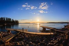 Spring landscape (Antti Tassberg) Tags: sunset sea sun beach finland landscape prime spring helsinki sundown fisheye mole 15mm meri lauttasaari ranta auringonlasku aurinko uusimaa kevt laituri laru