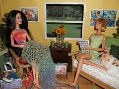 Girls Knit/Crochet Day #2 (Vicki02000) Tags: barbie diorama