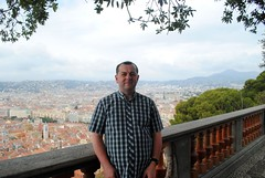 Me at the top of the Colline du Chteau (zawtowers) Tags: old vacation portrait holiday france me french town nice mediterranean riviera break top hill cte du april overlooking chteau ville colline dazur 2016 vielle