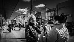 Gipsy Ladies Talk (jozef_filo) Tags: street leica bw slovakia dlux gipsy