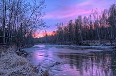 Along the Banks (jack4pics) Tags: alaska river spring sundown banks