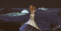 On The Verge (Lilyana Rose Resident) Tags: ocean water boat 3d waves ship avatar secondlife blonde ballgown