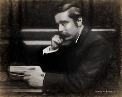 Digital Charcoal and Chalk Drawing of H. G. Wells by Charles W. Bailey, Jr. (Charles W. Bailey, Jr., Digital Artist) Tags: uk england art photomanipulation photoshop chalk europe drawing fineart digitalart visualarts charcoal writer author novelist charcoaldrawing chalkdrawing topaz hgwells herbertgeorgewells alienskin alienskinexposure digitalartist alienskinsoftware topazclean topazadjust topazdenoise topazdejpeg topazclarity charleswbaileyjr topazimpression topazglow