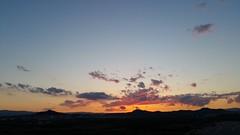 Sunset reflections (Quique CV) Tags: sunset sky sun mountains primavera sol valencia clouds reflections atardecer spring spain cielo nubes naranja reflejos montaas 2016 pobladevallbona