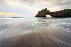 Cloudy Sunset at Batu Bolong Beach, Bali Indonesia (HakiimMislam) Tags: sea bali seascape water canon indonesia landscape seaside outdoor sony wave shore