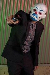 joker bank robber cosplay (ThereIzNoCure) Tags: dark costume comic mask expo cosplay oz clown sydney bank melbourne scene brisbane heath batman joker knight opening con robber ledger supanova
