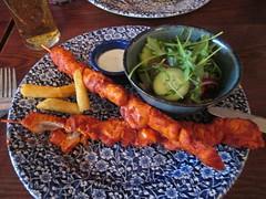 Chichester Gatehouse Tandoori Skewers (Bridgemarker Tim) Tags: food chicken chichester tandoori skewers