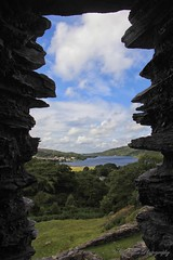 Castell Dolbadarn (cattan2011) Tags: travel lake castle water rock wales landscape frame waterscape naturelover castelldolbadarn traveltuesday