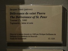 1460 - 'Deliverance of St. Peter' (design maybe by Jacques Daret), Tournai (?), Cathdrale, Beauvais, dp. Oise, Muse de Cluny, Paris, France (roelipilami) Tags: sleeping paris france saint st de rivets cathedral pierre musee prison peter soldiers guillaume jacques petrus salade cluny tapestry cathedrale deliverance gauntlet schaller beauvais tapisserie bevrijding oise tournai doornik soldats 1460 daret sallet delivrance hellande