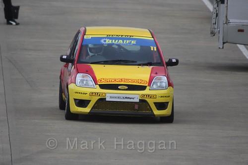 Lee Dendy-Sadler in the BRSCC Fiesta Championship at Silverstone, April 2016
